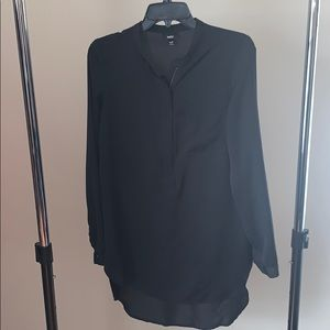 Mossimo Black long sleeve tunic with gold hardware